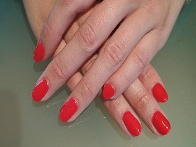 Electric Red Beautiful Nails Leuven