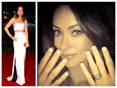 Zwart Wit celeb French Manicure