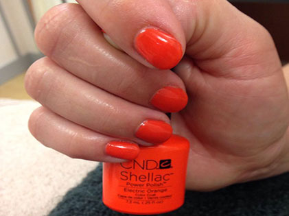 Gel Polish Electric Orange Leuven