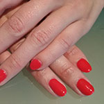 Electric Red gelnagels
