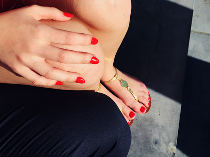 Ongles pieds beach