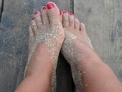 Ongles pieds vernis semi permanent
