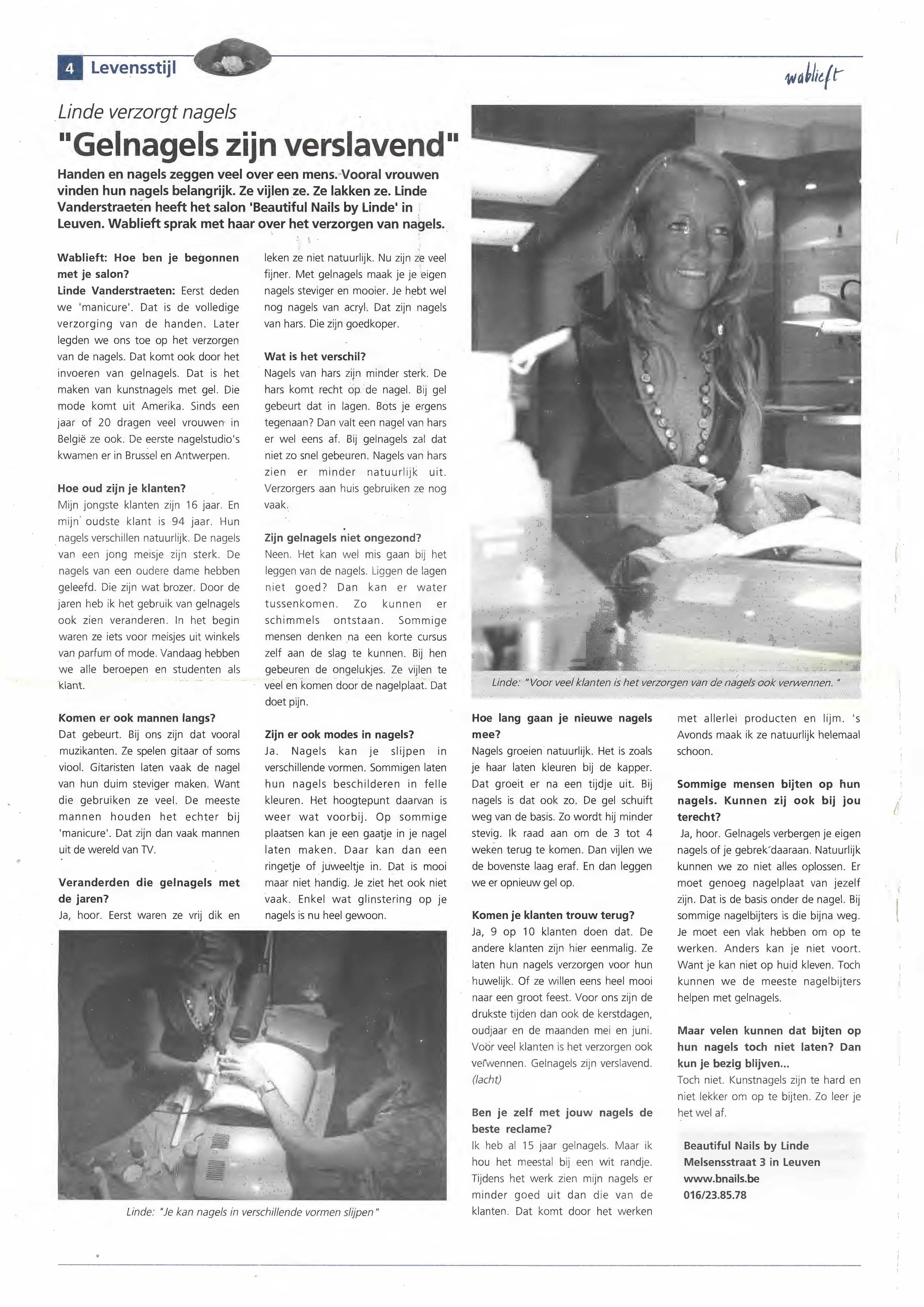 Nagelstudio Beautiful Nails by Linde (Leuven) - Interview Wablieft